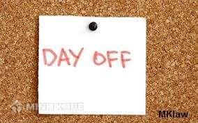 Thắc mắc về số ngày nghỉ phép của công ty theo quy định của pháp luật ?