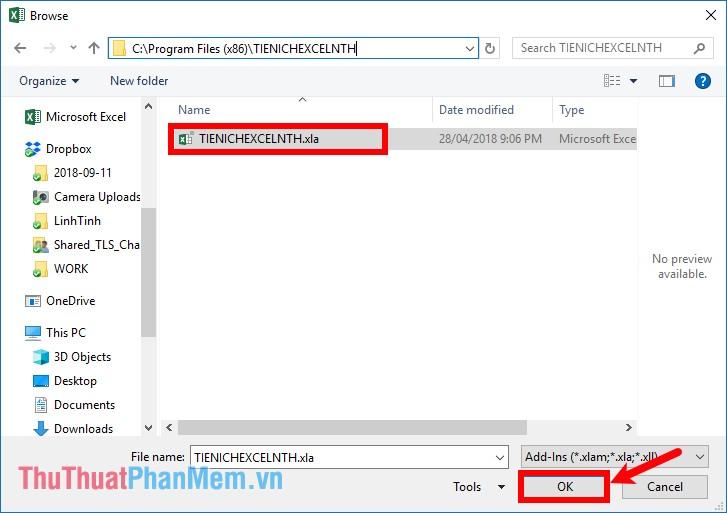 Trên cửa sổ Browse, chọn đến thư mục chứa file cài đặt