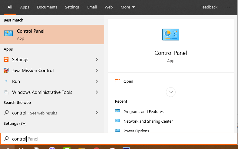Gỡ bỏ cài đặt Adware trên Control Panel