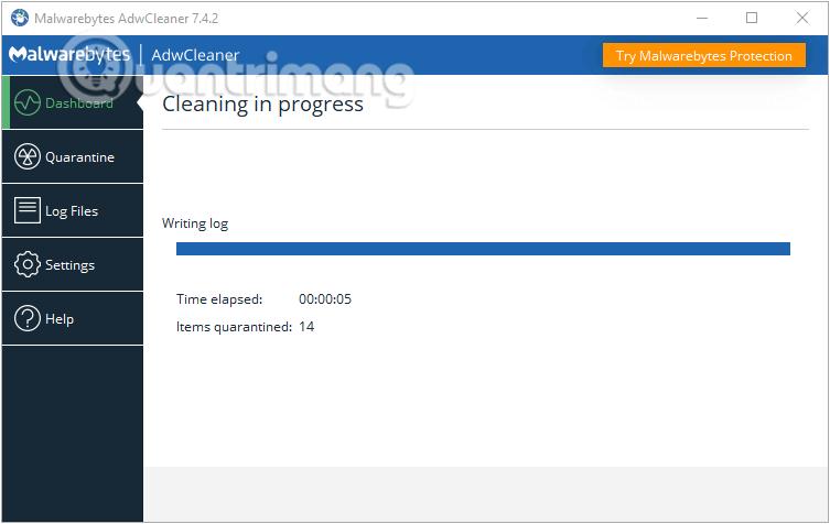 AdwCleaner dọn dẹp máy tính