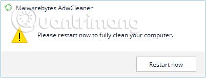 Thông báo Restart máy tính