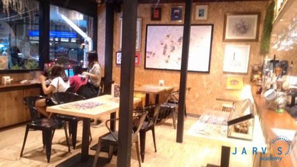 mô hình quán cafe ăn sáng