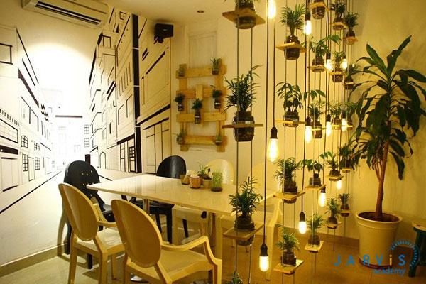 trang thiết bị nội thất quán cafe