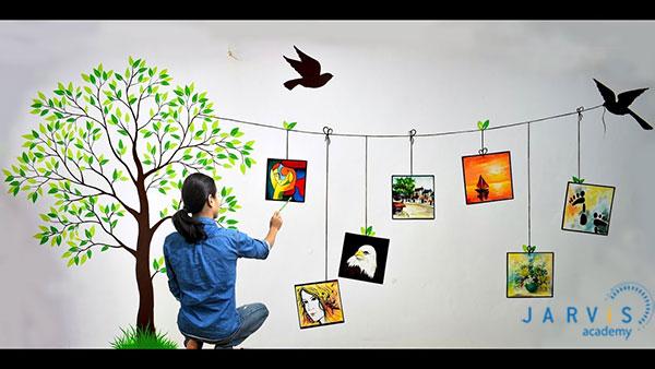 vẽ trang tường trang trí quán cafe