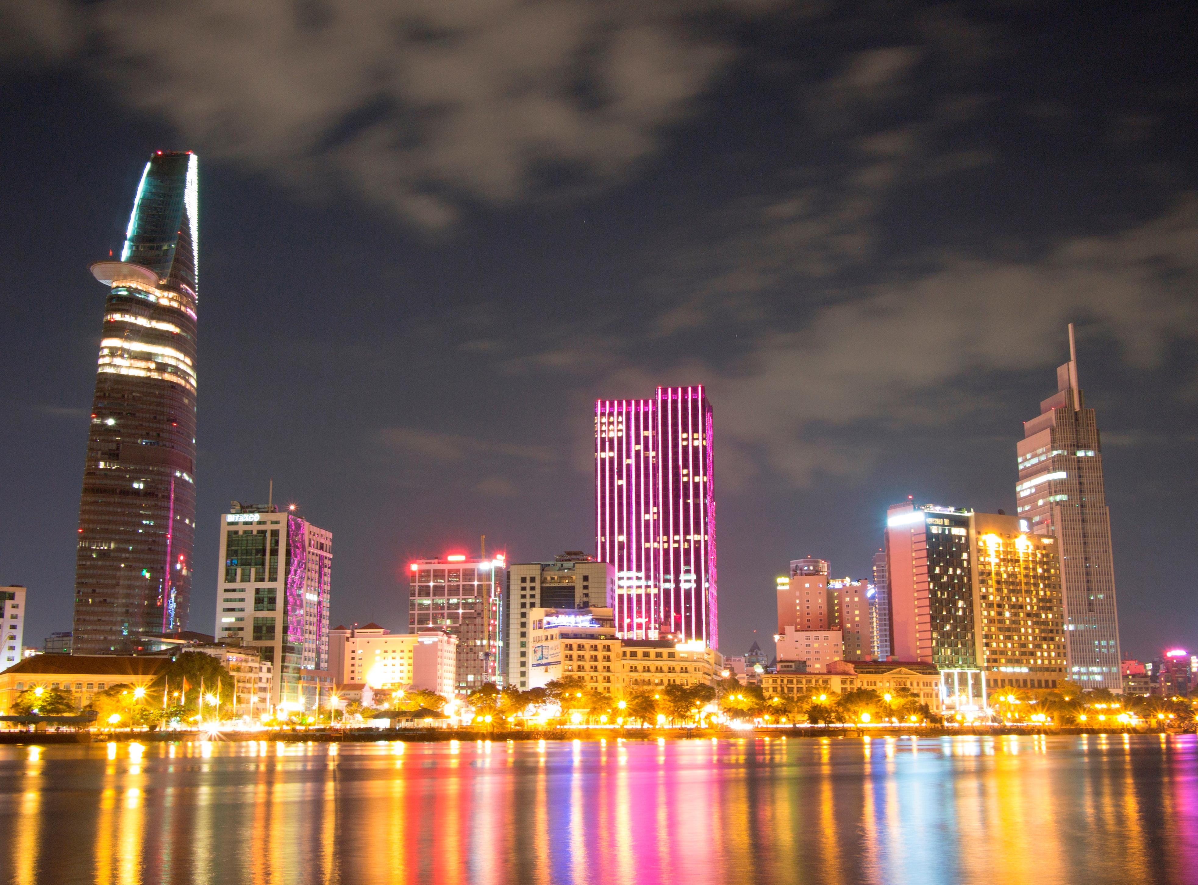 Khu trung tâm thành phố Hồ Chí Minh, nhìn từ phía quận