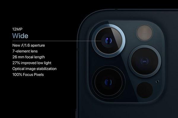 Thông số cụm camera sau iPhone 12 Pro